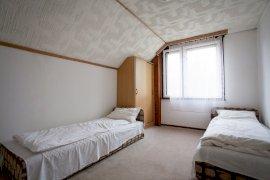 A vendégház egyik szobája