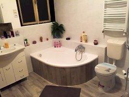 4 fős földszinti különbejáratú apartman fürdőszoba