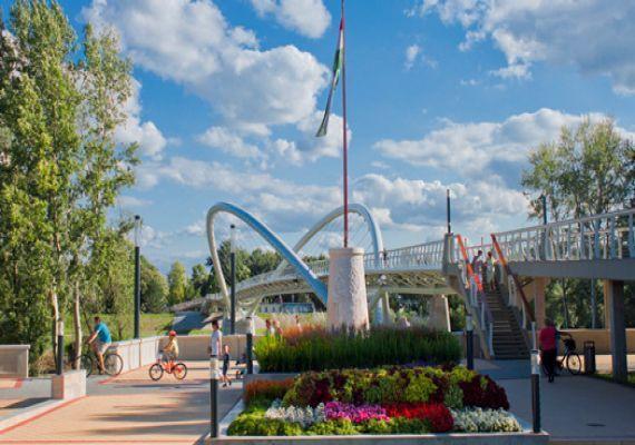Tiszavirág gyalogos- és kerékpáros híd, Szolnok