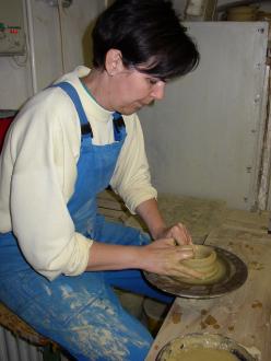 Herbszt Helga keramikus műhelye